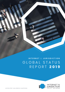 Internet & Jurisdiction Global Status Report 2019
