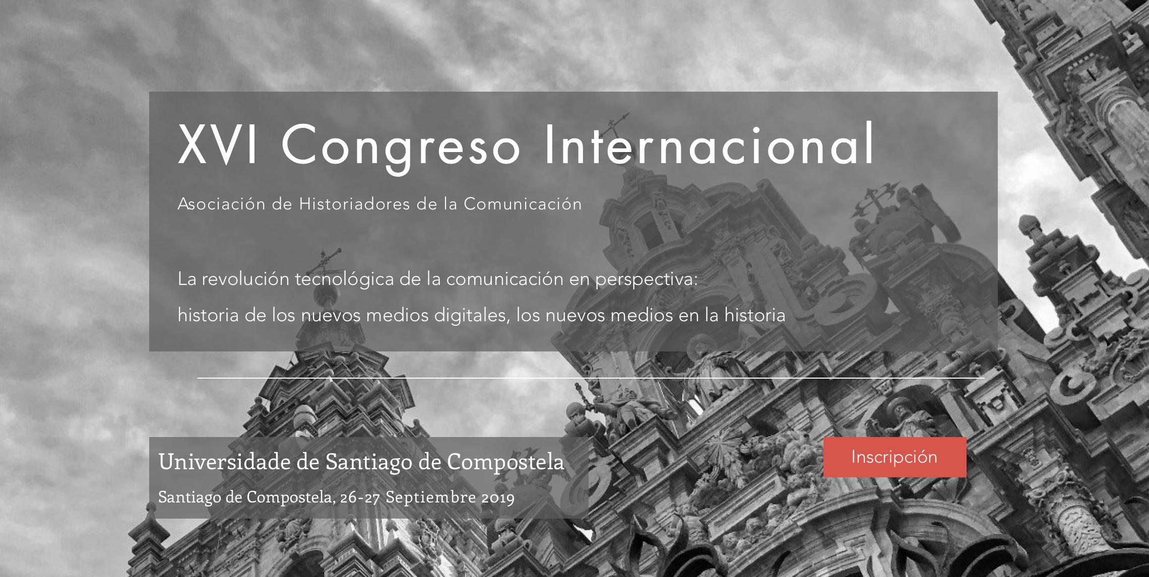 XVI Congreso de la Asociación de Historiadores de la Comunicación